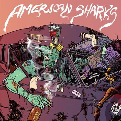 American Sharks album cover art artwork