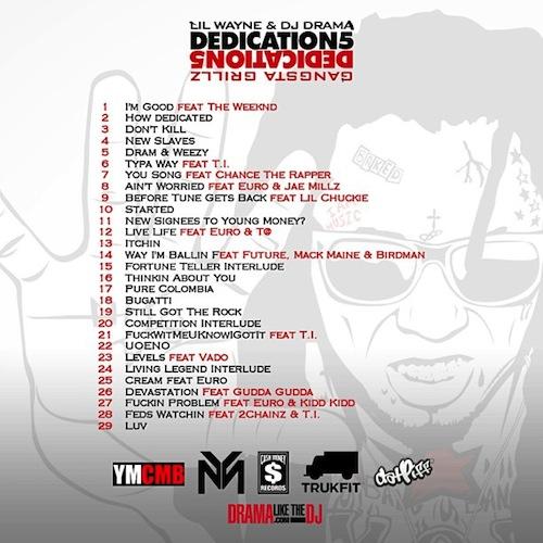 dedication 5 back