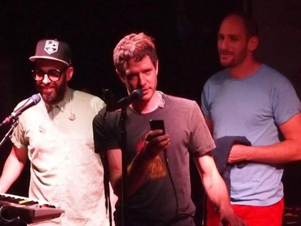 Tim, Damian and Dan - sampling the audience