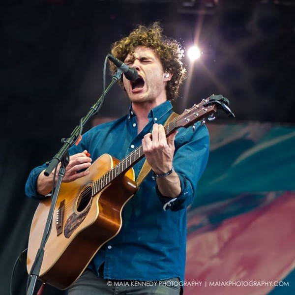 Vance Joy shares an intense moment with the crowd...  PHOTO: MAIA KENNEDY