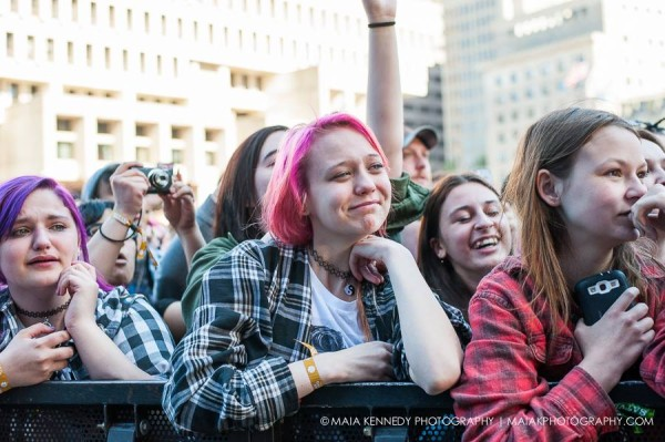 Some found their bliss at Boston Calling...  PHOTO: MAIA KENNEDY