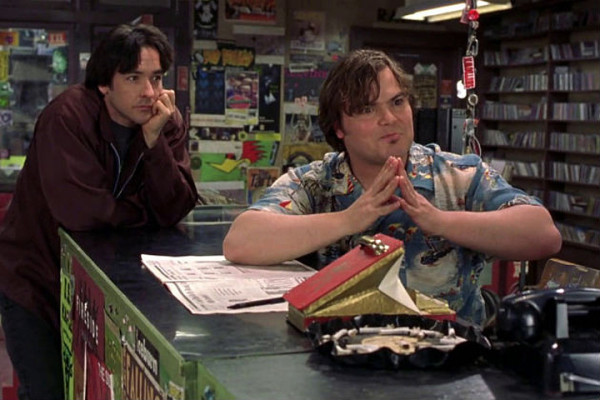 John Cusack and Jack Black in High Fidelity